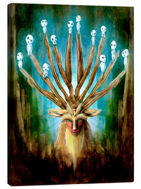 Canvas print  The Deer God of Life and Death - Barrett Biggers