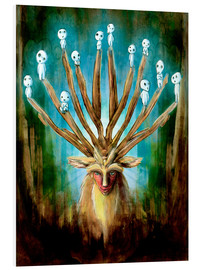 Foam board print  The Deer God of Life and Death - Barrett Biggers