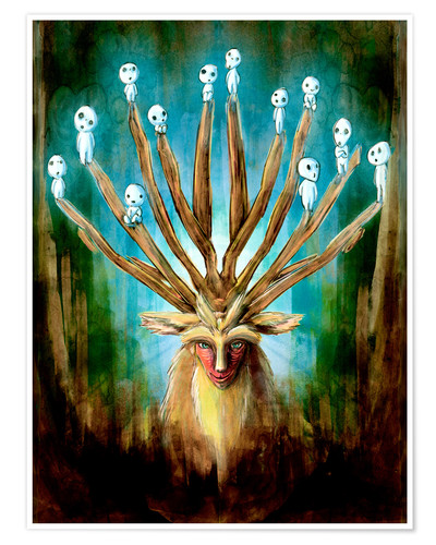 Premium poster The Deer God of Life and Death