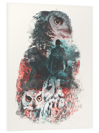 Foam board print  The Owls are Not What They Seem - Barrett Biggers