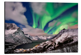 Aluminium print  Aurora Borealis or northern lights over winter landscape - Jürgen Ritterbach
