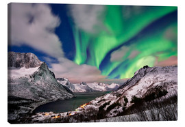 Canvas  Aurora Borealis or northern lights over winter landscape - Jürgen Ritterbach