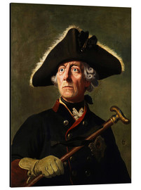 Alu-Dibond  Frederick the Great - Wilhelm Camphausen