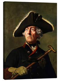 Canvas  Frederick the Great - Wilhelm Camphausen