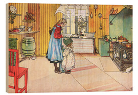 Wood print  In the kitchen - Carl Larsson