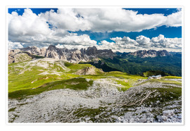 Premium poster Mountain views Dolomites
