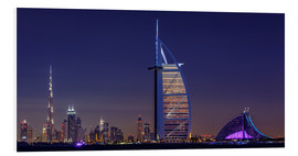 Foam board print  Dubai Cityscape; United Arab Emirates - Achim Thomae