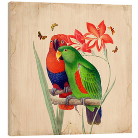 Wood print  Oh My Parrot I - Mandy Reinmuth