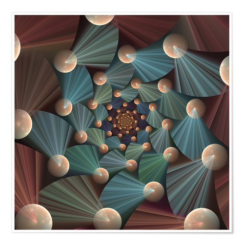 Premium poster Fractal The Dance of Forms