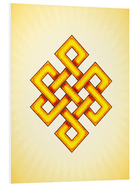 Foam board print  Endless Knot - Artwork Yellow - Dirk Czarnota