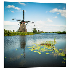 Foam board print  Picturesque Kinderdijk - Hannes Cmarits