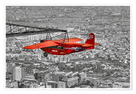 Premium poster Sightseeing flight over Barcelona