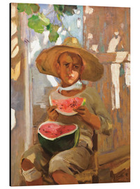 Alu-Dibond  Boy with watermelon - Joaquin Sorolla y Bastida