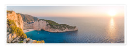 Premium poster Panoramic of shipwreck beach (Navagio) on Zakynthos island, Greece