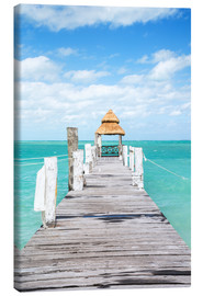 Canvas print  Boardwalk into the sea, Mexico - Matteo Colombo