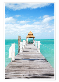 Premium poster Boardwalk into the sea, Mexico