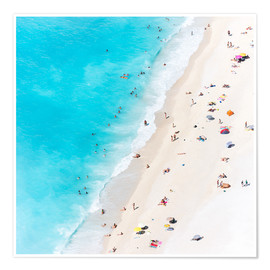 Poster  Summer on the beach, Greece - Matteo Colombo