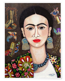 Poster  Frida thoughts - Madalena Lobao-Tello