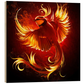 Wood print  Fire Bird - Elena Dudina