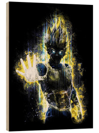 Wood print  Vegeta Fury - Barrett Biggers