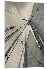 Foam board print  Masts, ropes and sails - Walter Bibikow