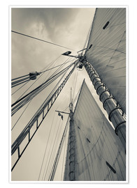 Premium poster Masts, ropes and sails