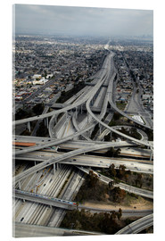 Acrylic glass  Highways in Los Angeles - David Wall