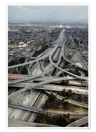 Premium poster  Highways in Los Angeles - David Wall