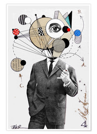 Premium poster  the thinking man - Loui Jover