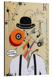 Aluminium print  A Clockwork Orange - Loui Jover