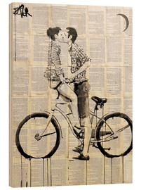 Wood print  love cycle - Loui Jover