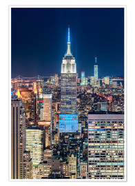 Premium poster  Empire State Building from Top Of The Rock - Sascha Kilmer