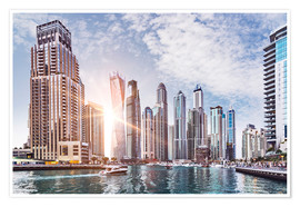 Poster  Sunset at Dubai Marina - Felix Pergande