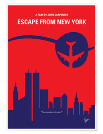 Premium poster No219 My Escape from New York minimal movie poster