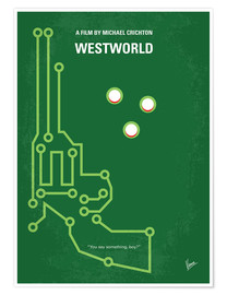 Premium poster No231 My Westworld minimal movie poster