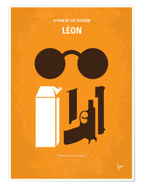 Poster No239 My LEON minimal movie poster