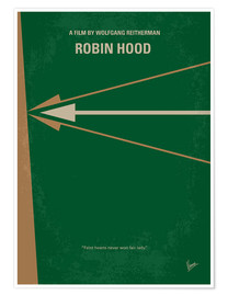 Premium poster No237 My Robin Hood minimal movie poster
