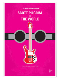 Premium poster No236 My Scott Pelgrim minimal movie poster
