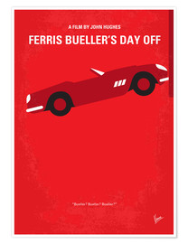 Premium poster  No292 My Ferris Bueller's day off minimal movie poster - chungkong