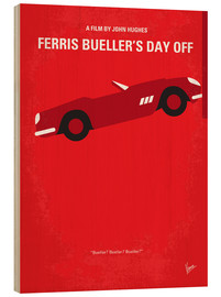 Wood  No292 My Ferris Bueller's day off minimal movie poster - chungkong