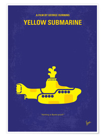 Premium poster No257 My YELLOW SUBMARINE minimal movie poster