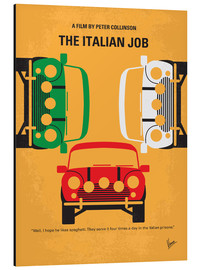 Alu-Dibond  No279 My The Italian Job minimal movie poster - chungkong