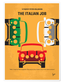 Poster  No279 My The Italian Job minimal movie poster - chungkong