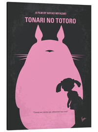 Alu-Dibond  No290 My My Neighbor Totoro minimal movie poster - chungkong