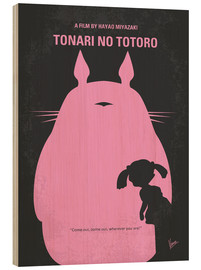 Wood print  No290 My My Neighbor Totoro minimal movie poster - chungkong