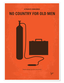 Premium poster No253 My No Country for Old men minimal movie poster