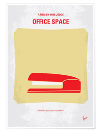 Premium poster No255 My OFFICE SPACE minimal movie poster