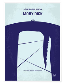 Premium poster No267 My MOBY DICK minimal movie poster