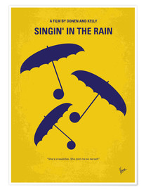 Premium poster No254 My SINGIN IN THE RAIN minimal movie poster