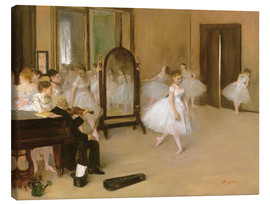 Canvas print  dance class - Edgar Degas